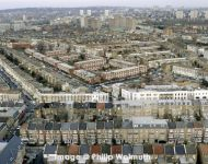 View from Trellick Tower across Harrow Rd 1998